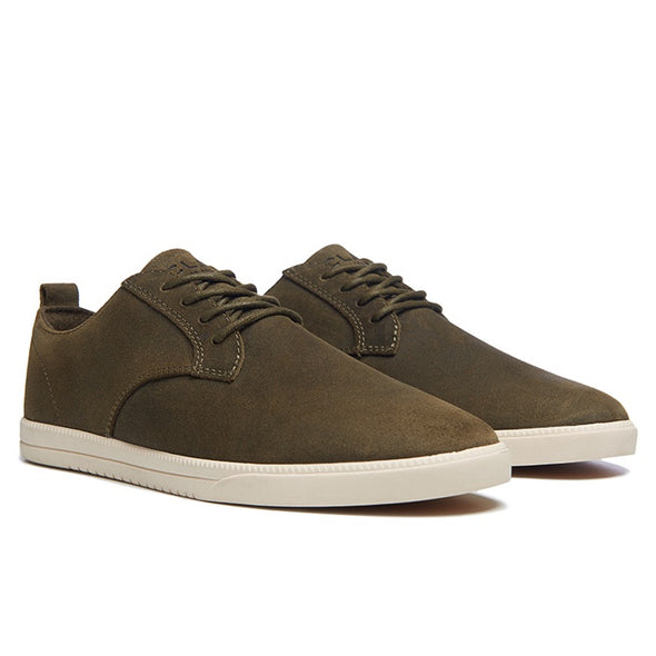 Ellington - Olive Waxed Suede