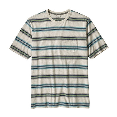 Squeaky Clean Pocket Tee - Tarkine Stripe Pelican - Gingers & Providence