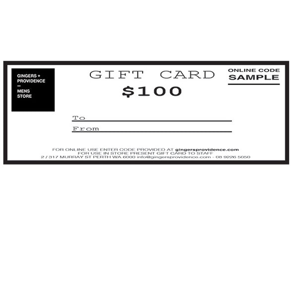Gift Card - In Store & Online Use - Gingers & Providence