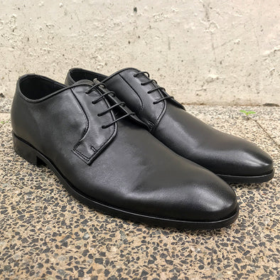 Camino Leather Derby - Black - Gingers & Providence
