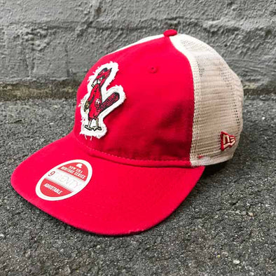 St Louis Cardinals Heritage Series 9TWENTY Cooperstown Trucker Cap - Red - Gingers & Providence