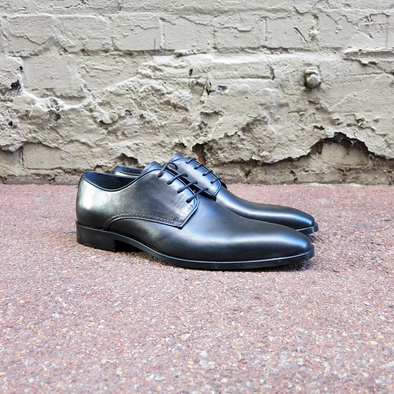 Hamilton Black Leather Derby - Gingers & Providence