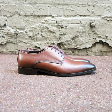Hamilton Tan Leather Derby - Gingers & Providence