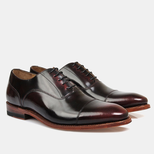 Iver Oxford - High Shine Burgundy - Gingers & Providence
