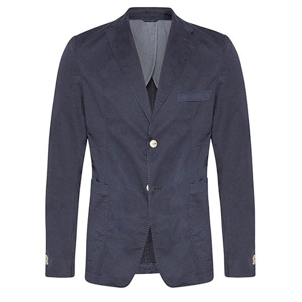 Slim Fit Cotton Blazer - Navy - Gingers & Providence