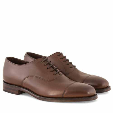 Aldwych Oxford - Dark Brown Burnished Leather