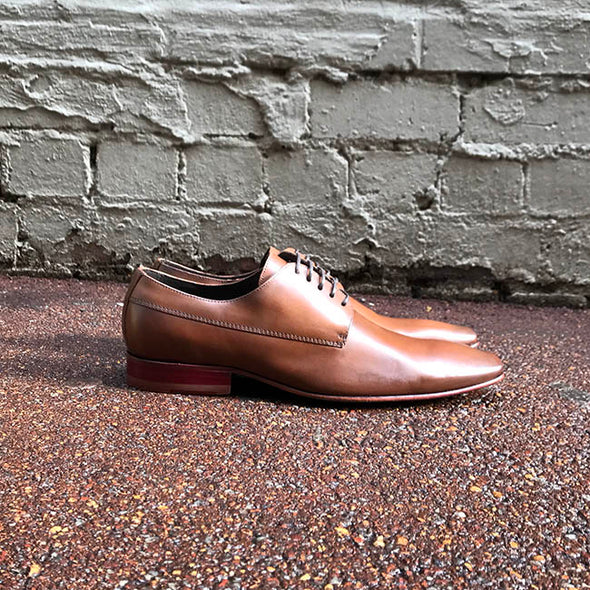 McCartney Leather Derby - Whisky - Gingers & Providence