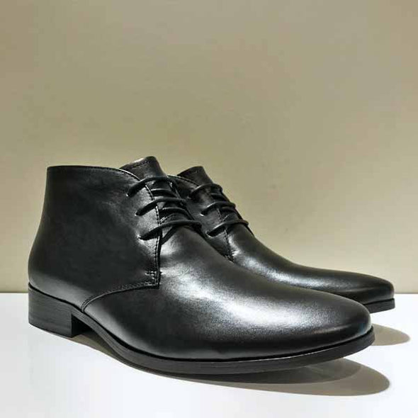 Monforte 2 Black Leather Lace Up Boot - Gingers & Providence