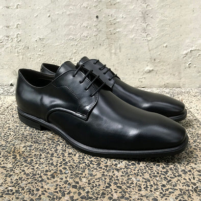 Wilshire Leather Derby - Black - Gingers & Providence