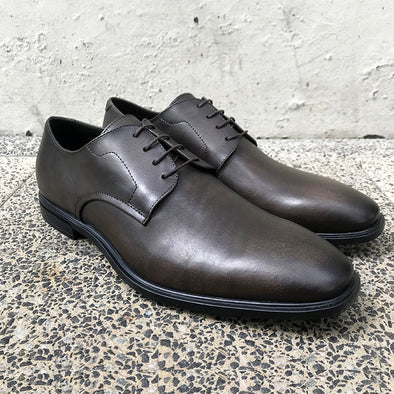 Wilshire Leather Derby - Graphite Brown