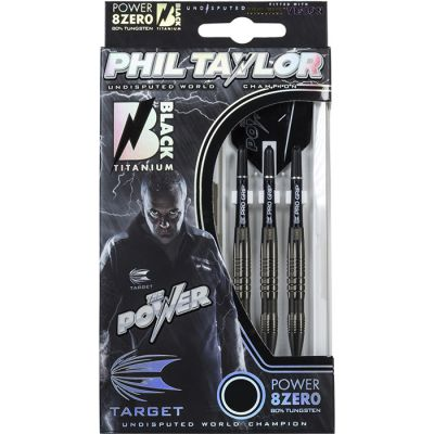 Power 8zero Steel - Black Phil Taylor 22gm