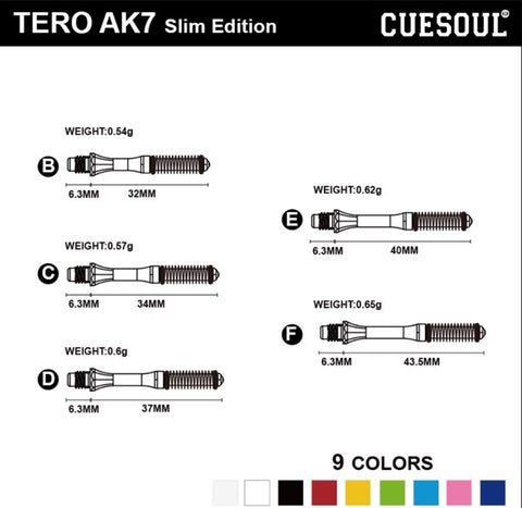 Tero AK7 Slim Shaft