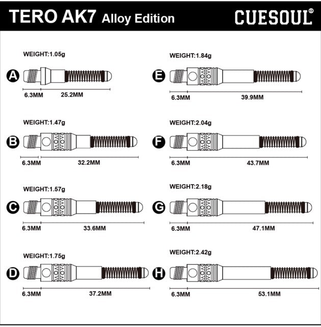 Tero AK7 Aluminum Shaft