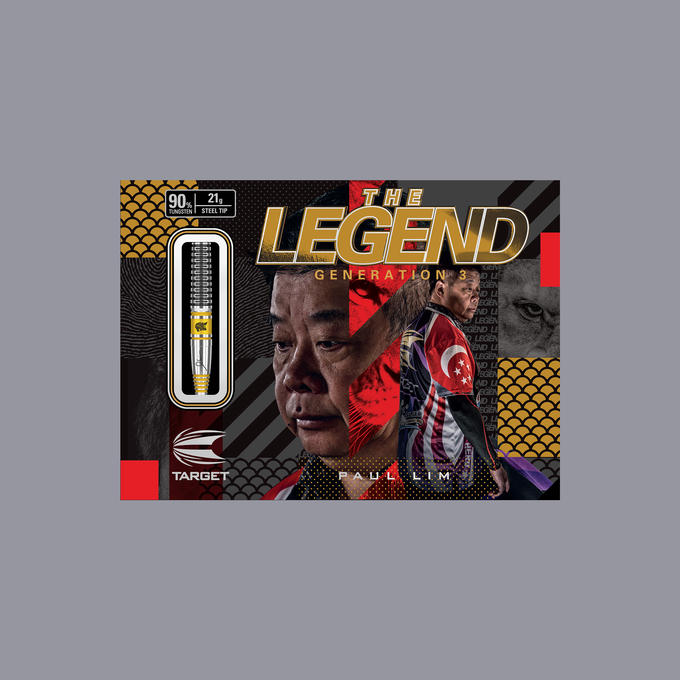 The Legend Paul Lim G3 Steel Tip Darts - 21gm