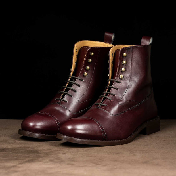 Oxford Tall Boots in Burgundy