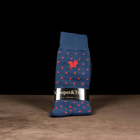 Blue & Red Dots Socks