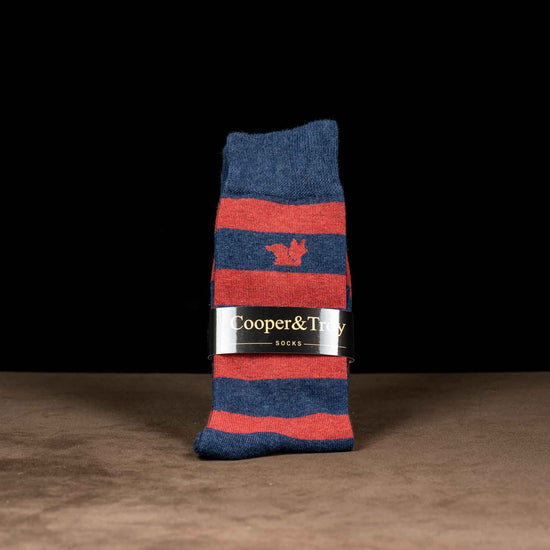 Blue & Red Stripes Socks