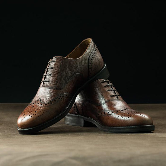 Derby Brogue in Cognac