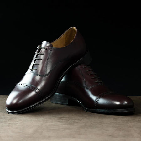 Oxford Brogue in Burgundy