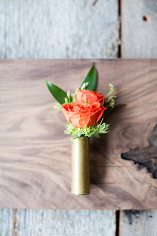 Boutonniere with Spray Roses Limonium
