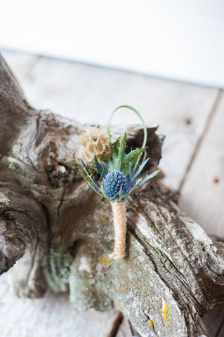 Boutonniere with Thistle