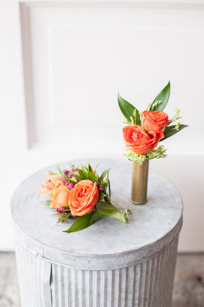 Spray Roses, Boronia & Myrtle Corsage