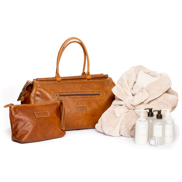 Leather and Bathroom Set