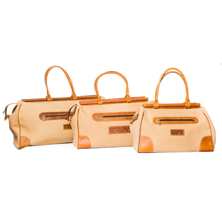 Canvas Carpet Bag Set of Three