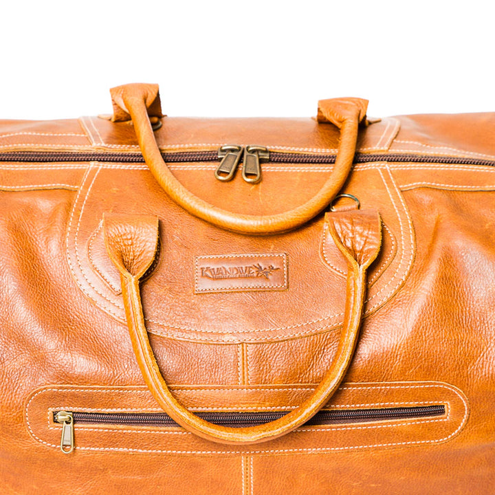 Large Leather Traveler Bag