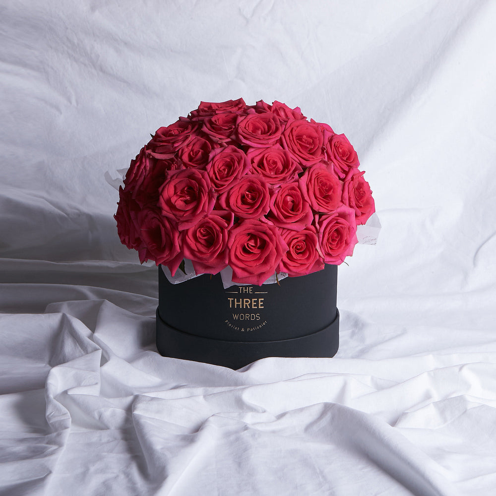Dark Pink Roses (Bouquet or Round Box)