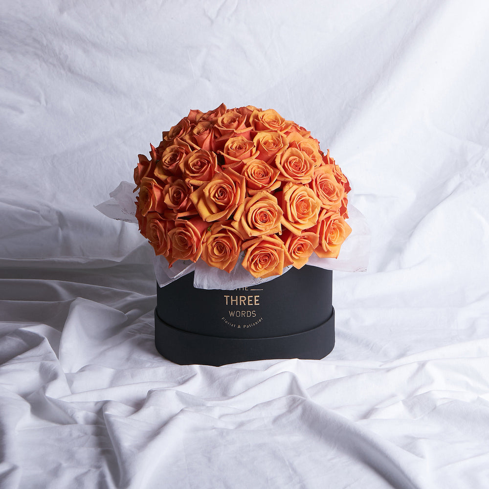 Orange Roses (Bouquet or Round Box)