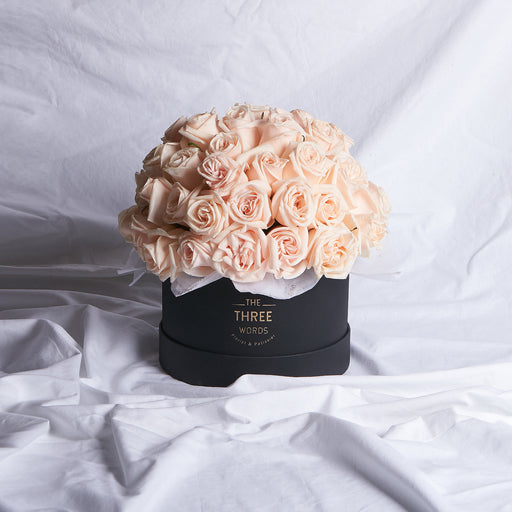 PEACH ROSES (Bouquet or Round Box)