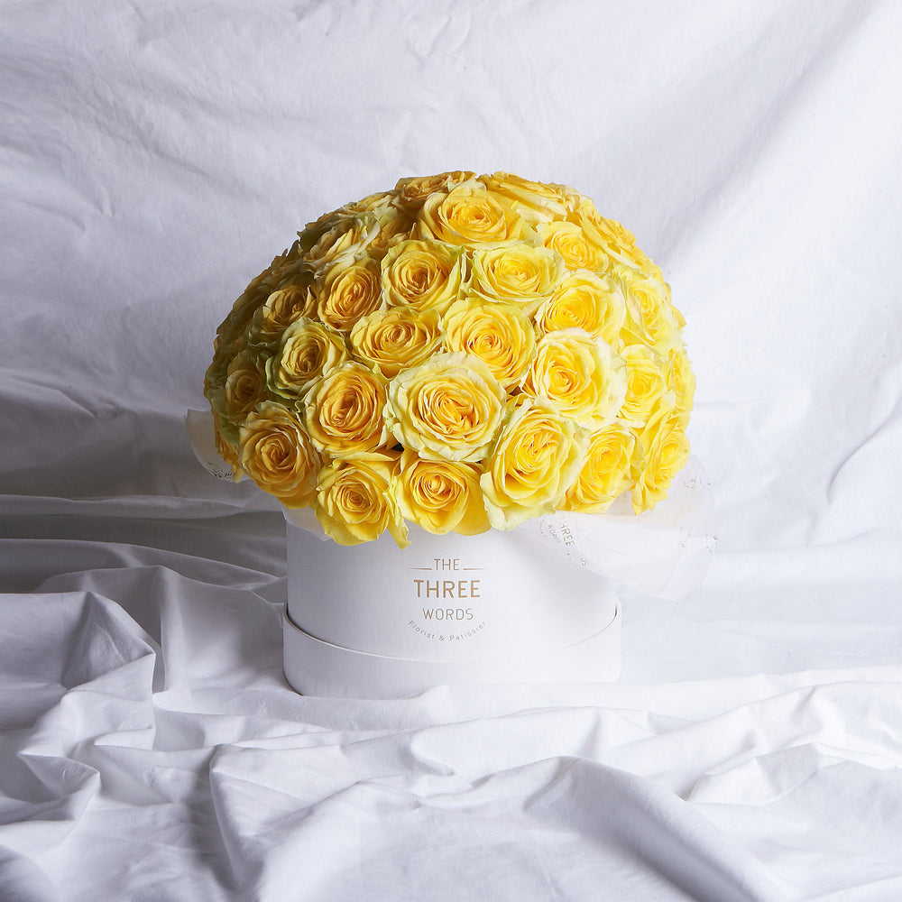 Yellow Roses (Bouquet or Round Box)