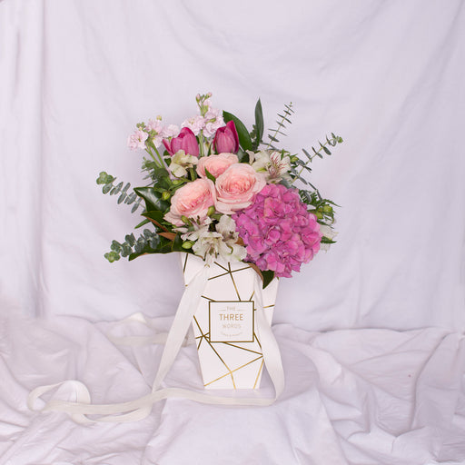 "Mother's Day - ""Pastel Pink Bouquet"" in Lux Bag"