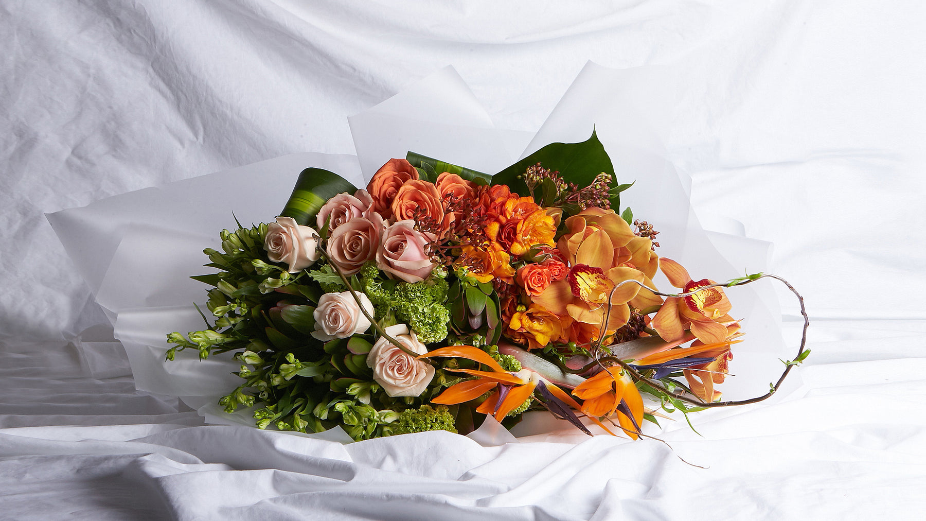 The Orange, Peach & Green Bouquet