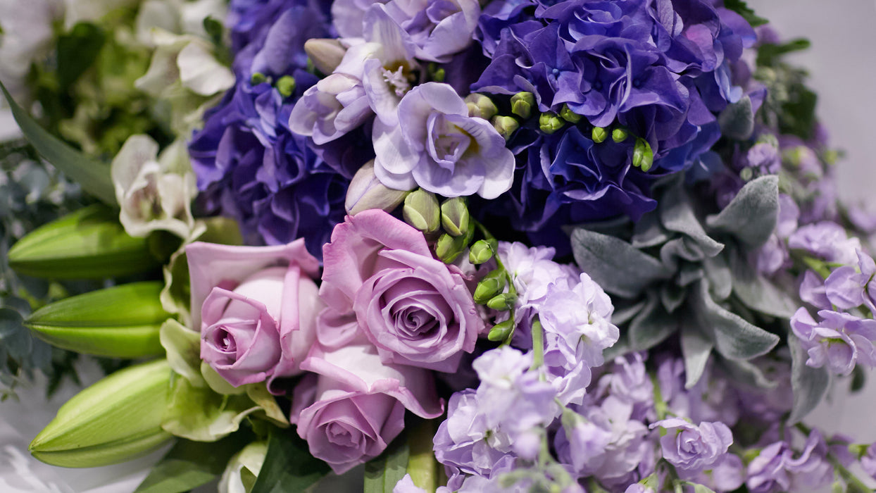 The Purple, Blue & Green Bouquet