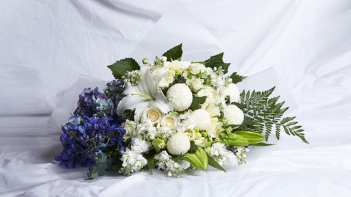 The Blue, White & Green Bouquet