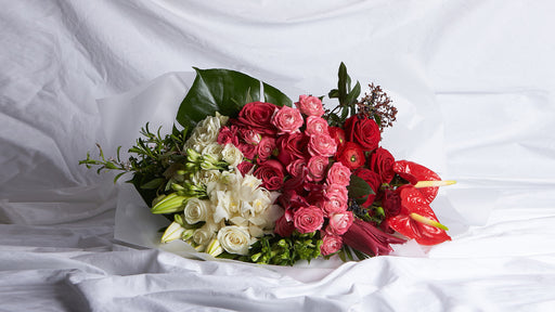 The Red, Pink & White Bouquet