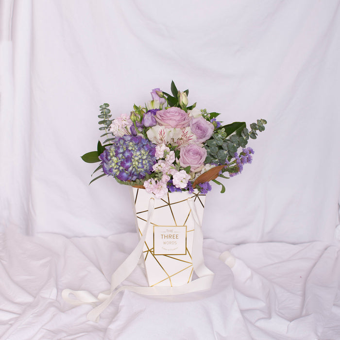 "Mother's Day - ""Pastel Purple Bouquet"" in Lux Bag"