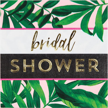 מפיות פסים ואננס זהב Bridal Shower  - 16 יחידות