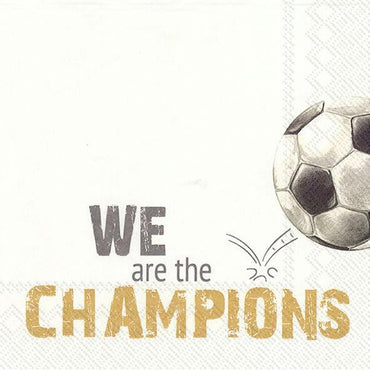 מפיות כדורגל WE ARE THE CHAMPIONS - 20 יחידות