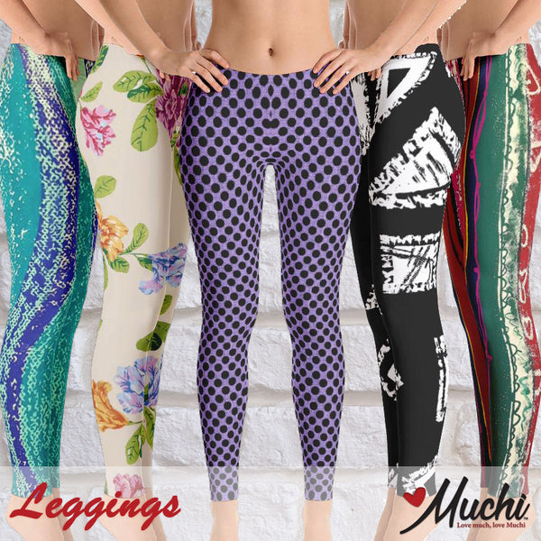 Artist-designed women's leggings by Muchi USA