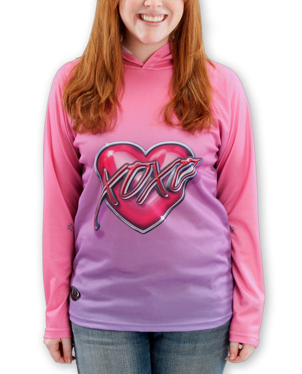 XOXO KISSY LIPS Hoodie Chomp Shirt for Women by MOUTHMAN - Valroy's