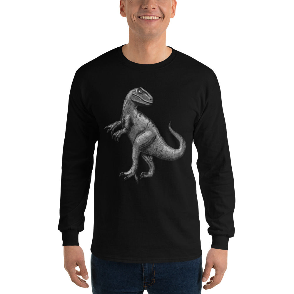 Valroys.com Gents T-Shirts - Mouthman® Silver Raptor Long Sleeve T-Shirt for Men - MOUTHMAN®