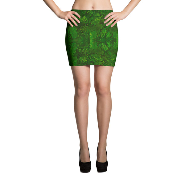 Ladies Skirts: Emerald Paisley Smudge Mini Skirt by MuchiUSA - Valroy's Store
