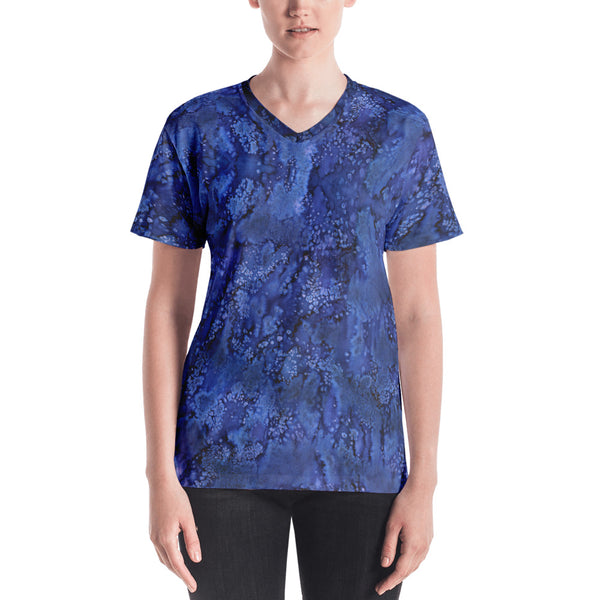 Perkle Paisley Smudge Womens V-neck by MuchiUSA