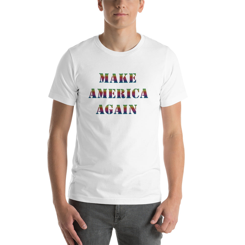 Valroys.com Gents T-Shirts - Make America Again Short-Sleeve Unisex T-Shirt by Muchi-USA - MuchiUSA