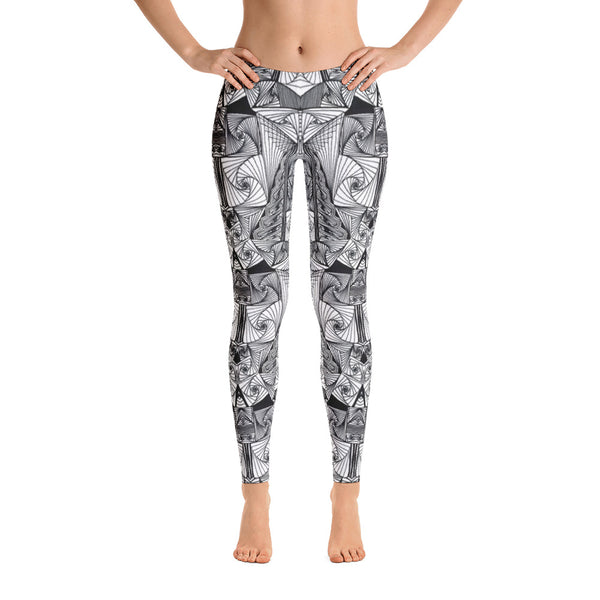 Ladies Leggings: Escheresque Leggings by MuchiUSA - Valroy's Store