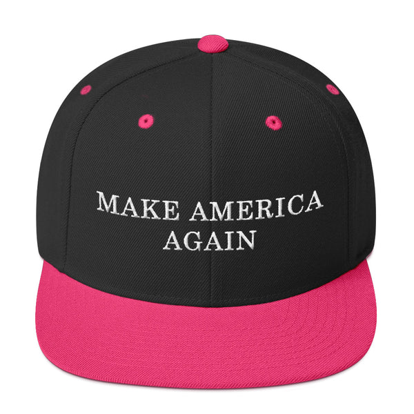 Valroys.com PopShop Hats - MAKE AMERICA AGAIN Embroidered Snapback Hat - MuchiUSA