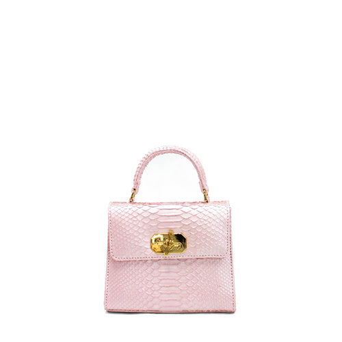Giovanna Barrios Small Python Top-handle Satchel